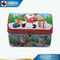 Cartoon Christmas Gift Tin Box Vintage