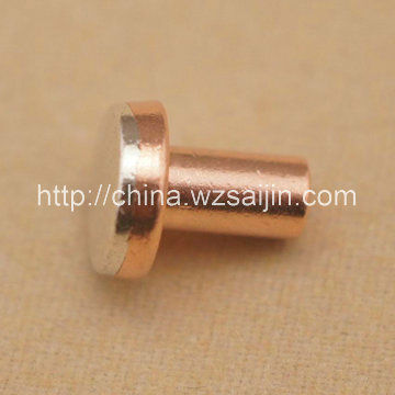 Manufacture Electrical Sliver Alloy Bimetal Contact Rivets <strong>Point</strong> for PCB Wholesale Alibaba