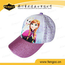 2016 customized 100% polyester hot-transfer 5 panels kids sport cap for Children