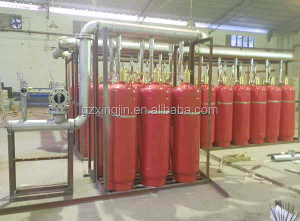 Specialized pipeline HFC-227ea fire suppression system