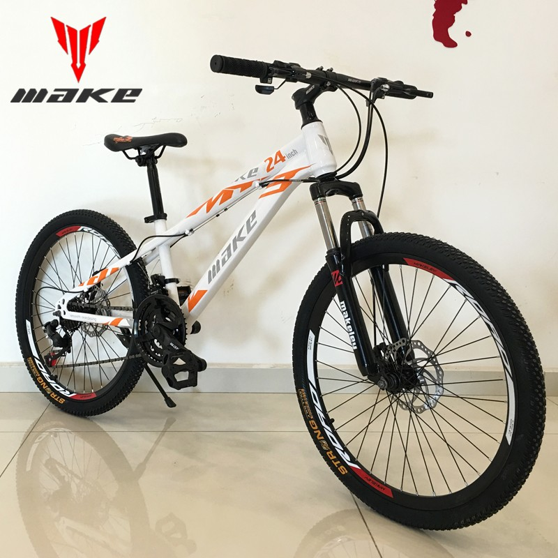 MAKE 24inch 21-speed sport MTB bicycle carbon steel mountain bike