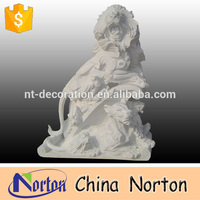 Ancient granite stone animal sculptures lion carving statues from China NTBM-L104R