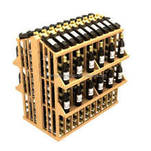 Wooden red wine rack WDS-1