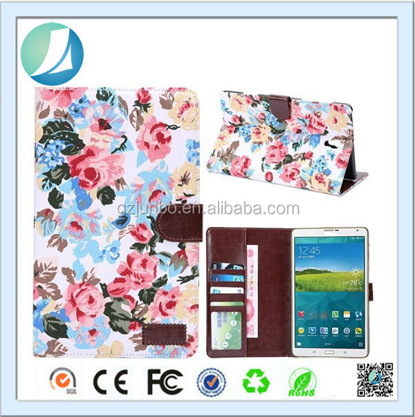Smart Cover Flower Stand Slim Leather Case For Galaxy Tab S 8.4 T700