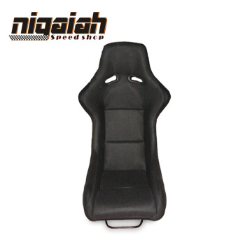 Newest Hot Selling Design Racing style Universal Black fiberglass Suede Bucket seat--RAH