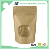 Moisture proof durable kraft paper bag with window