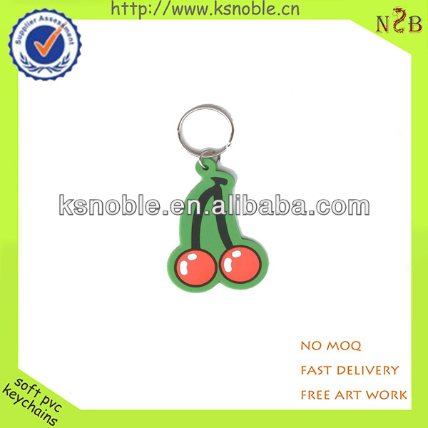 cheap cute keychain soft pvc key chain