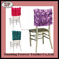 rosette half back top chair covers cheap chair cover for event decoration