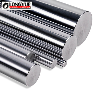 Hard chrome plated piston rod for hydraulic cylinder