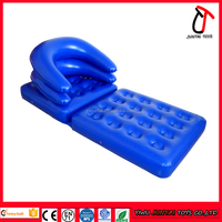 High quality Blue color multifunction inflatable pool lounge chair/sofa/mattress for sale