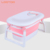 PP TPR material plastic adjustable comfortable anti slip folding tub baby bath bucket