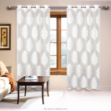 Luxury Jacquard Finished sheer curtain designs for office