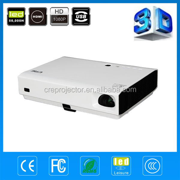 Best buy portable DLP LED 3D 3000 lumens support 1920 X 1080 laser video projectors/lowest price mini led projector
