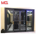 Customized house aluminum sliding door prices with metal mosquito net