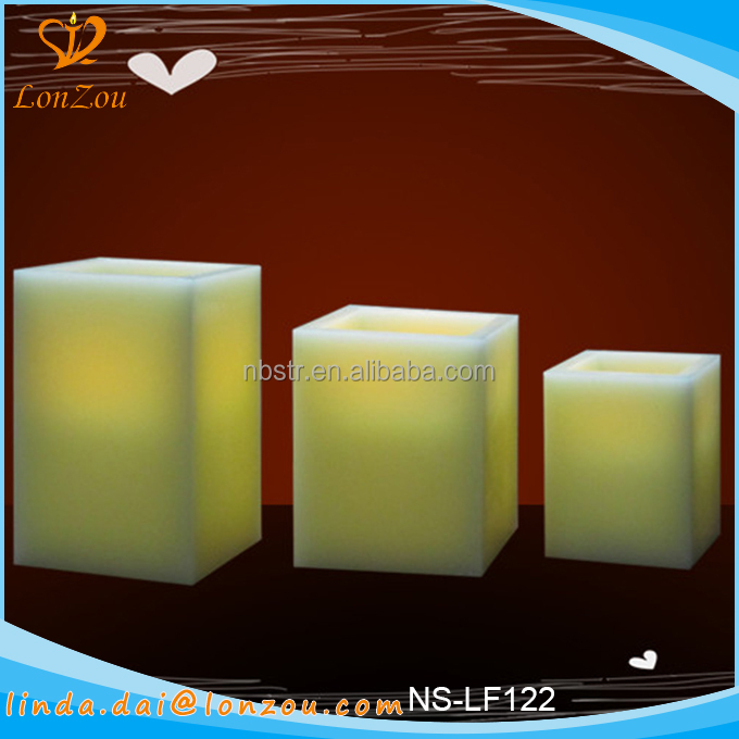 wholesale square candles custom cheap led home sense candles