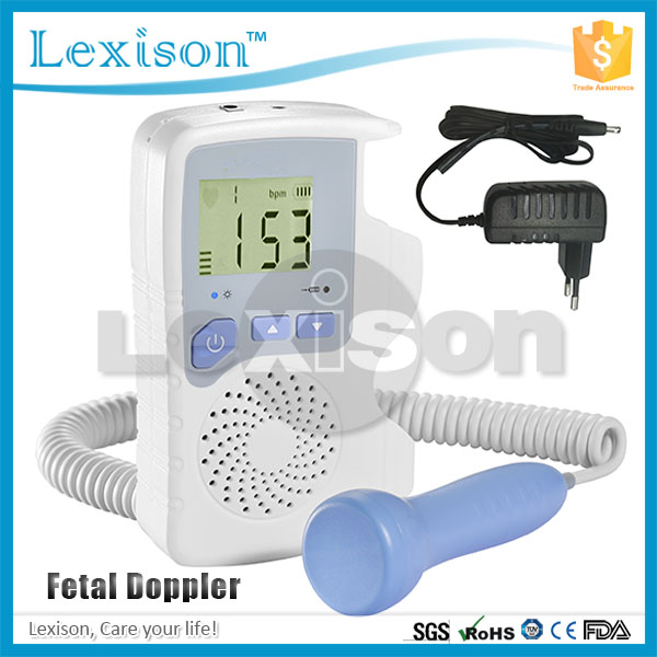 Portable Ultrasonic Doppler PRFD-V210D Fetal Heart beat Detector: Pocket Fetal Doppler