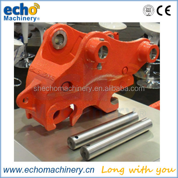 hydraulic quick coupler with 360 degree rotation and minimum 40 degree tilt each side for excavator