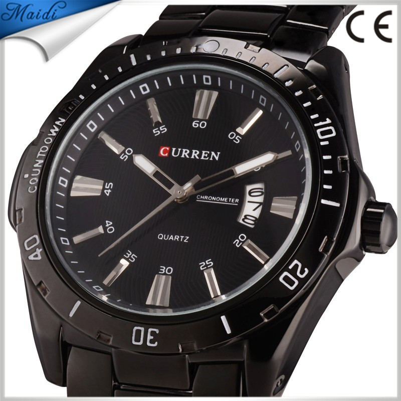 Free Shipping Curren Luxury Brand Stainless Steel Strap Analog Date Men's Quartz Watch Casual Watch Men Wristwatch relogio BW-21