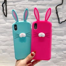 2018 Wholesale Custom Rabbit Silicon Shockproof <strong>Mobile</strong> Accessories Back Covers Cell Phone Case For Iphone X <strong>10</strong> Case