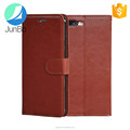 Leather case Crazy horse material filp case for iPhone 7 plus with 3 card slot