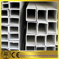 Q235 hot dipped galvanized square / rectangular hollow section steel pipe