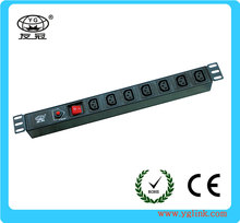 19'' IEC 320 C13 type IP PDU with overload protection