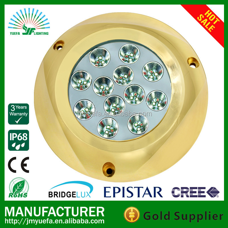 modern hot sale 10-30v underwater led marine lighting bronze 120w rgb control sea water boat light
