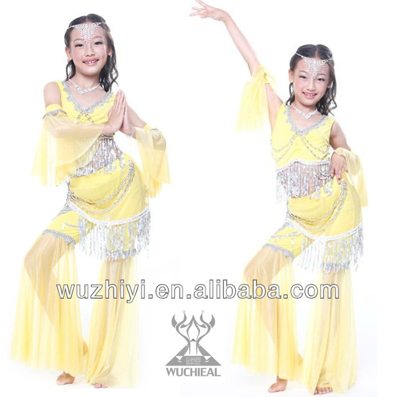 Belly Dance Kids Costumes,Lovely Popular Belly Dance Wear,Belly Dance Stage Performance Dress for Children(QC2123)