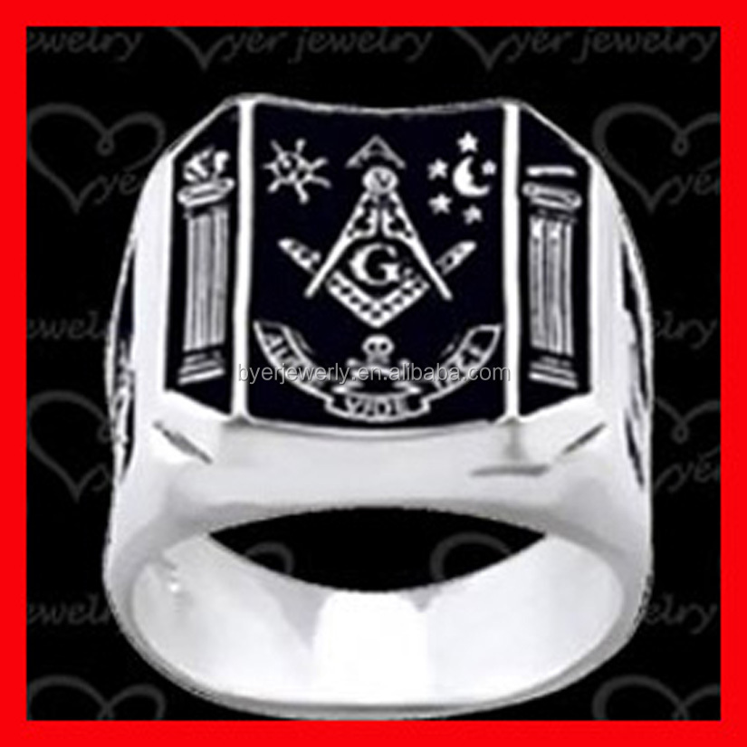 wholesale high quality stainless steel material masonic items ring