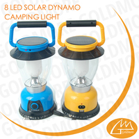 goldmore1 8 led solar camping light, rechargeable camping lantern , good quality tent light