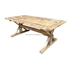 Asian antique reproduction traditional furniture wholesale vintage recycle wood natural dining table set