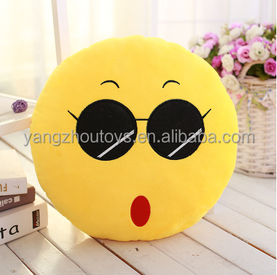 Cute Cheap cool Emoticon Stuffed Emoji Soft Cushion Plush Emoji Pillows