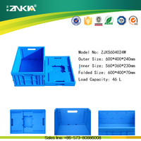 Small portable pp plastic bin tote container shipping box for family