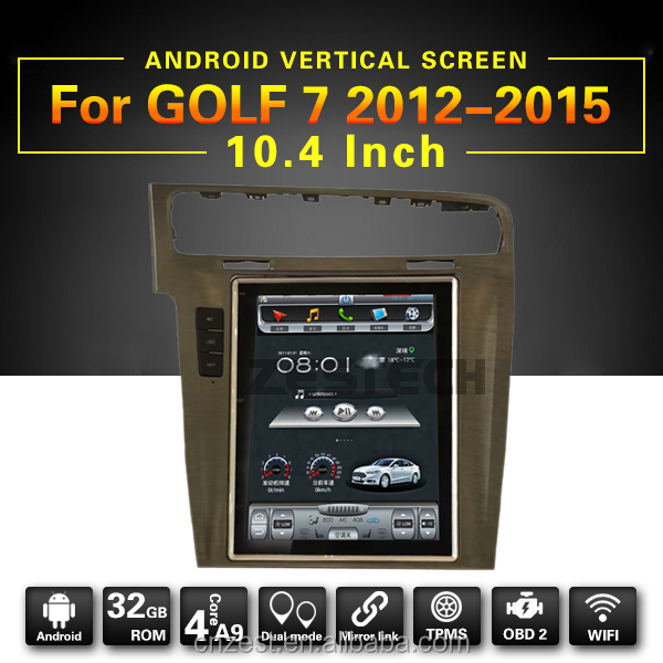 10.4 inch tft lcd monitor touch display screen android gps navigation for VW Golf 7 2012-2015 with dvd player gps radio audio