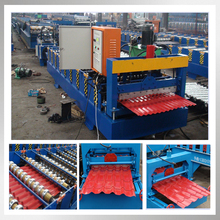 10% discount used double layer glazed tile roll forming machine corrugate panel cold roll forming machine