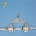 Preformed line fitting double OPGW suspension clamp