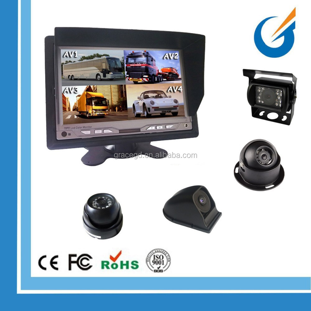 Hot Sale Surround View Backup Car Camera System With Digital 7 Inch Monitor And CCD IP68 Camera