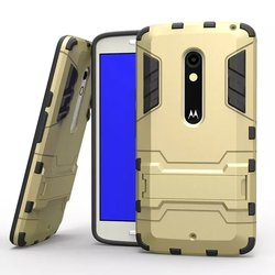 For motorola moto x play tpu+pc cover case with stents