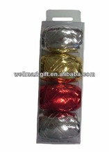 4PK 10 Meters Metallic Poly Curling Gift Wrapping Ribbon Ball Pack