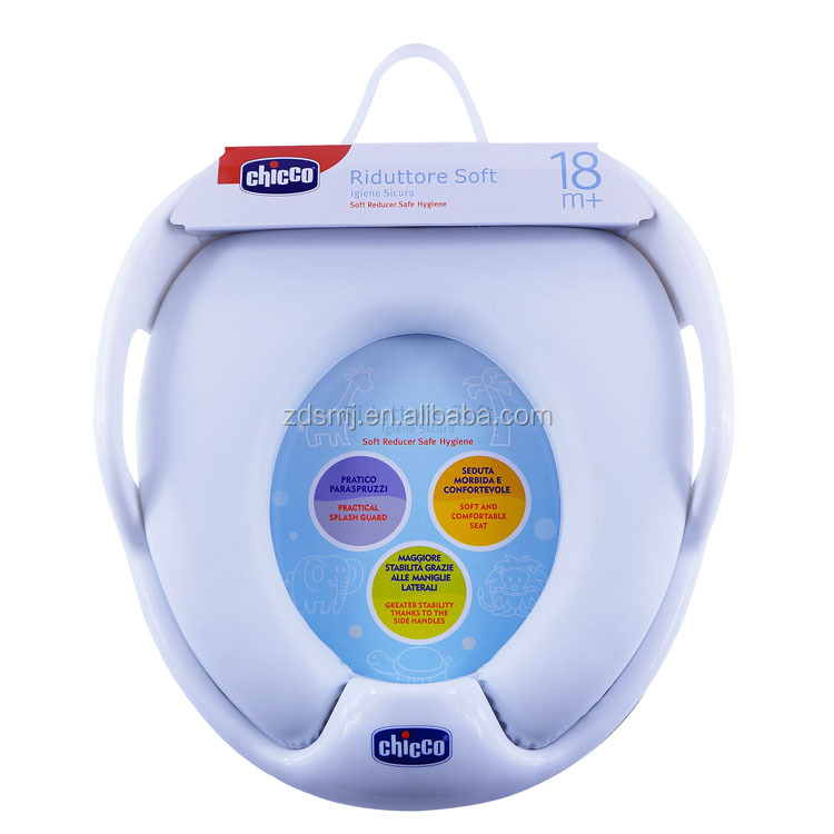 Baby soft potty seat toilet reducer with handle kids training adapter children Chicco toilet training seat