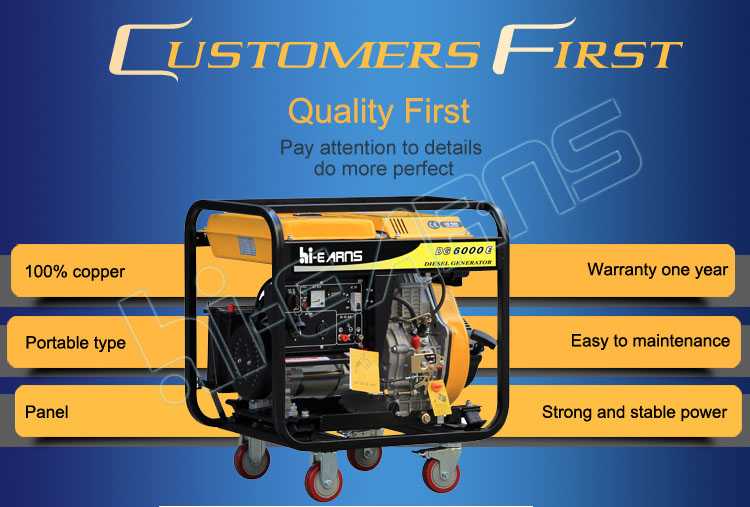 Best price 3KW 5KW 6KW 50HZ open type air cooled diesel generator