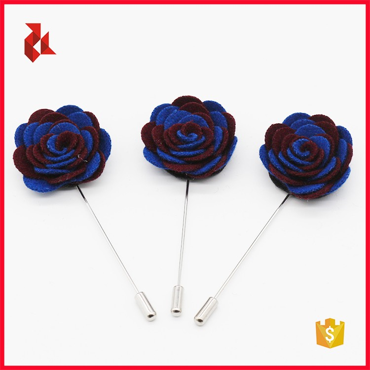 China Factory Colorful Men's Floral Lapel Pins Wholesale