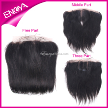 13x8 Brazilian human hair ear to ear full lace frontal closures pieces