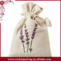 Factory Price Small White Cotton Lavender Sachet Bag With Drawstring For Packaging