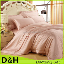 china satin fabric cvc bed linen sheet set