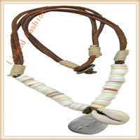braided leather necklace with magnetic clasp