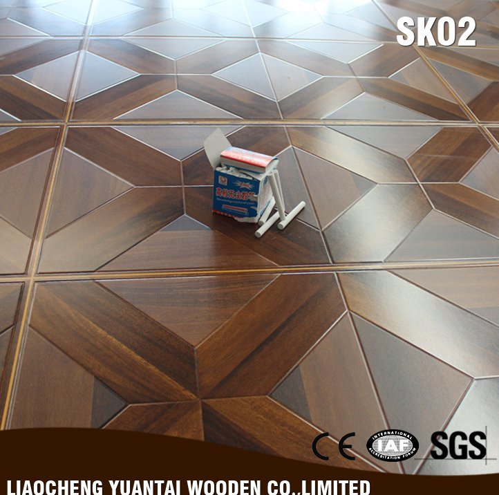 China factory wholesale 12mm Waterproof laminate parquet flooring / parquet wood flooring