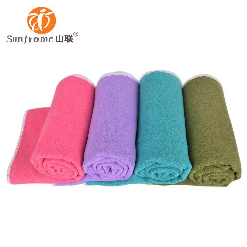 Custom Logo microfiber yoga mat 80% Polyester 20% Polyamide 360g gram weight size 24*72inch wholesale beach towel factory