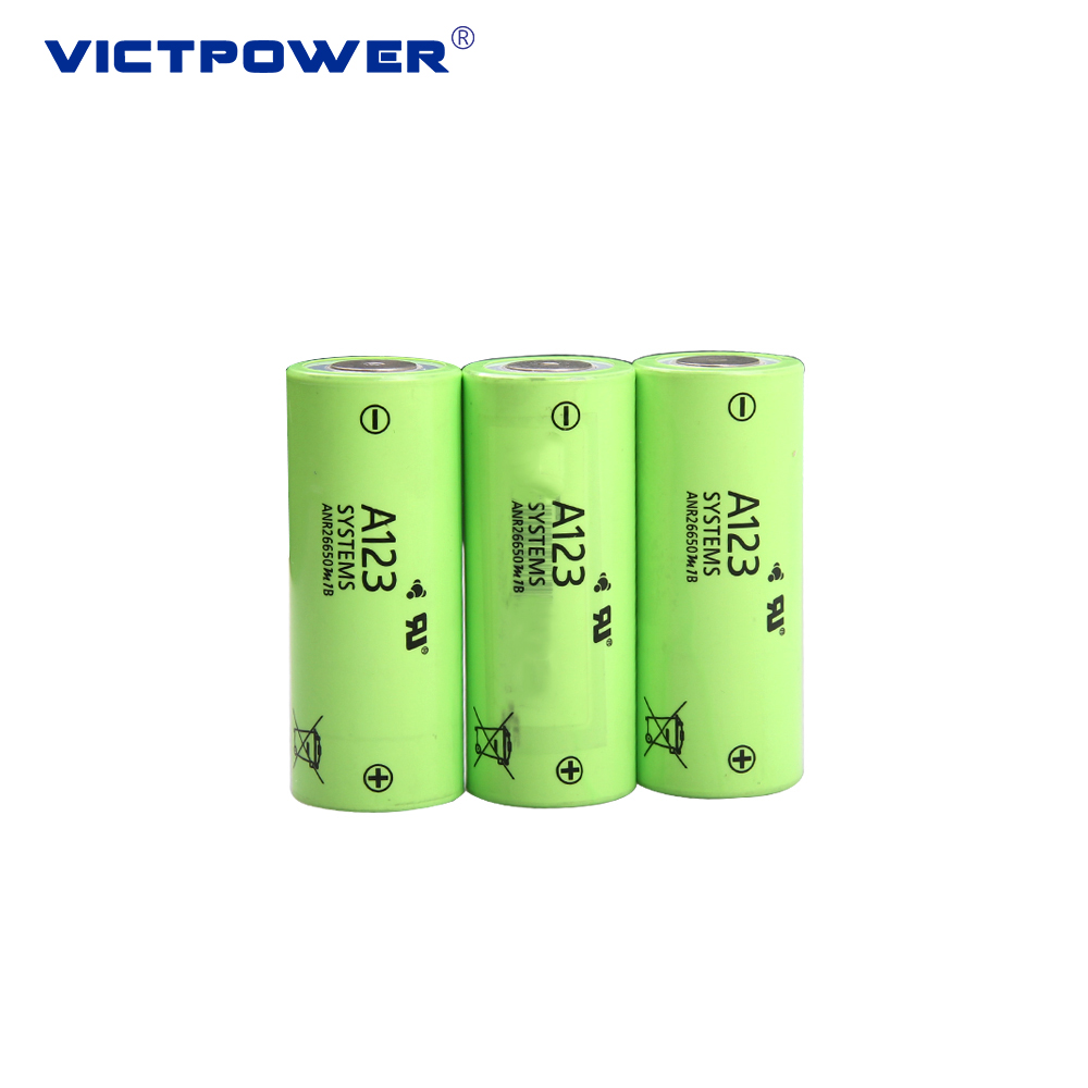 3.2v rechargeable 26650 battery 26650M1B 2500mah li ion battery for electric bike