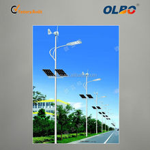 30w China manufacturer LED solar wind hybrid street light with all components